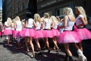 Blonde parade in Riga, Latvia. Meet thousands of beautiful single Lativan women online seeking men for dating, love, marriage in Latvia.